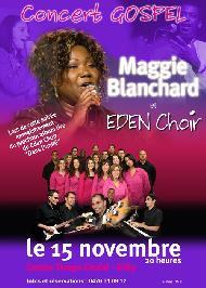 Concert Gospel avec Maggie Blanchard et le groupe belge Eden Choir.